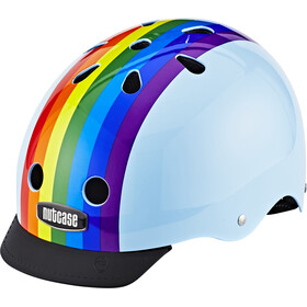 Nutcase Street Cykelhjelm blå/farverig
